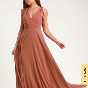 DANCE THE NIGHT AWAY RUSTY ROSE BACKLESS MAXI